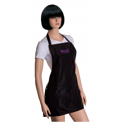Фартук Kodi professional черный с фиолетовым логотипом (короткий) 20052393