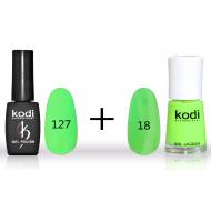 Гель лак №127 (8мл) и лак для ногтей №18 (15мл)