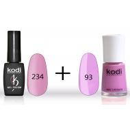 Гель лак № 234 (8мл) и лак для ногтей №93 (15мл)
