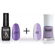 Гель лак №277 (8мл) и лак для ногтей №92 (15мл)