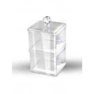 Органайзер косметический прозрачный (двухуровневый квадратный) 20051693