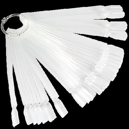 Демонстрационная палитра-веер на кольце, 50 типс (цвет прозрачный) 20042936