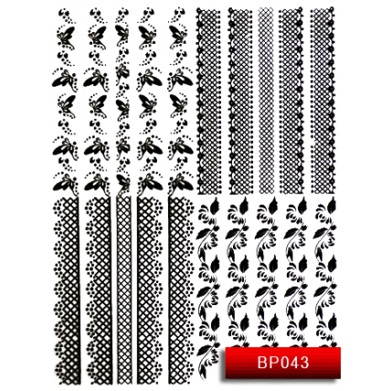 Nail Art Stickers BP 043 (черный) 20014247