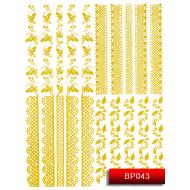 Nail Art Stickers BP 043 (золото) 20014254