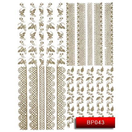 Nail Art Stickers BP 043 (серебро) 20014261