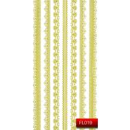 Nail Art Stickers FL 019 (золото) 20014780
