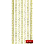 Nail Art Stickers FL 022 (золото) 20014902
