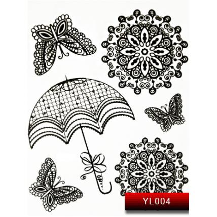 Nail Art Stickers YL 004 (черный) 20016043