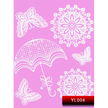 Nail Art Stickers YL 004 (белый) 20016074