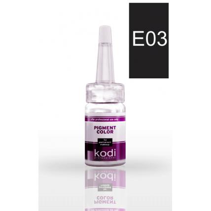 Пигмент для глаз E03 (Средне черный. Для блондинок) 10 мл 20002442