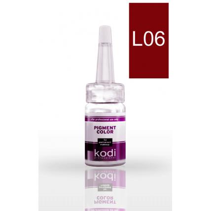 Пигмент для губ L06 (Темно - красный) 10 мл 20002510