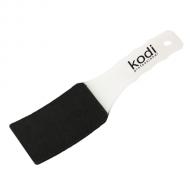 Пилка для педикюра изогнутая (пластиковая белая ручка) 100/180 20028640